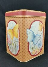 Butterfly Tin Box Can PIC Princeton Industries Corp Indiana MINT Vintage Collect