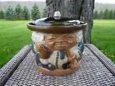 "Royal Doulton LAMBETH Stoneware #8593 SIMEON ""BEST IS NOT TOO GOOD"" Tobacco Jar"
