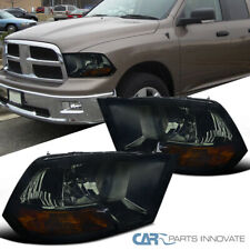 For 09-19 Dodge Ram 1500 2500 3500 Smoke Lens Headlights Tinted Head Lamps Set