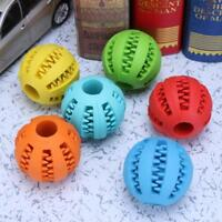 5/7cm Rubber Ball Chew Treat Dispensing Holder Pet Dog Puppy Toy Training Gift