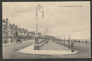 Postcard Westcliff on Sea nr Southend Essex view of The Leas posted 1914