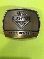 Vintage HANDYMAN Club of America Belt Buckle Life Member 1996 Hammer