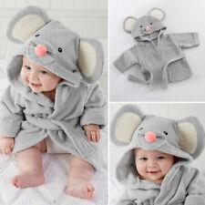 Infant Baby Cute Soft Bath Towel Flannel Hooded Blanket Bath Bathrobe