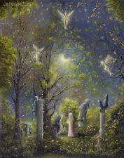 Philippe Fernandez Original Painting Fantasy Landscape Stars Fairy Tale Gothic