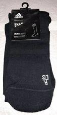 Adidas Parley OTC Socks 1 Pair Men 9-10.5 Black w/ White Logo TechFitCompression
