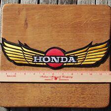 Motorcycle Biker Jacket Cafe Racer Cloth Patch Badge HONDA WINGS 30 CM 12 Inch