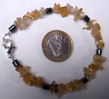 bracelet neuf pierres naturelles véritables citrine hématite brésil 19 cm