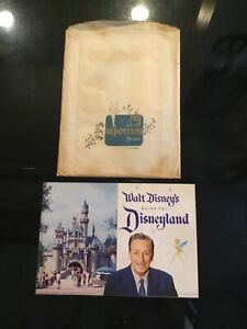 Walt Disney's 1958 Guide To Disneyland Book With Store Bag Near Mint