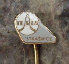 Antique Tesla Czech Electronics Classic Sine Wave Strasnice TV Plant Pin Badge