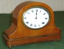 Vieux Réveil De Voyage Radio-réveil Montre Horloge Table Bois Cerisier