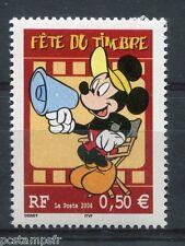 FRANCE - 2004, timbre 3641, DISNEY, MICKEY, FETE DU TIMBRE, neuf**