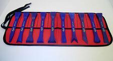 BoJo Tools 10pc. Deluxe Scraper Kit with Pouch.  Nylon/Plastic Composite.