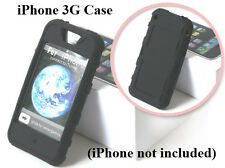 IPCS Black Apple iPhone 3G Premium Rubber Soft Gel Silicon Skin Case Cover