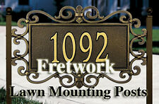 Fretwork STANDARD SIZE Lawn Mounting Posts-For Lawn Mt.