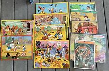 11 Vintage Disney Frame Tray Puzzles 50's-70's Mickey Mouse Donald Duck lot