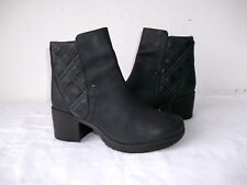 STUNNING MOSHULU BROOK WAXED LEATHER BLOCK HEEL ANKLE BOOTS 5 UK 38 EU EXCELLENT