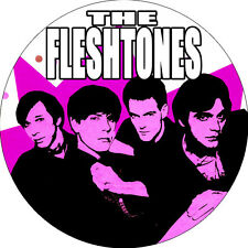 CHAPA/BADGE THE FLESHTONES . chesterfield kings lyres garage miracle workers pin