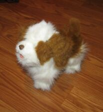 FurReal Friends barking Dog Toy: White and Brown 2010 7.5""