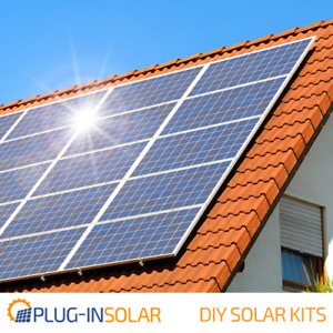 Plug-In Solar Power DIY Kit with with Mounts for Tile or Slate Roofs