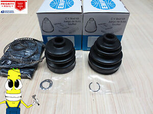 Rear Inner & Outer CV Axle Boot Kit For Honda Civic Wagon AWD / 4wd 1988-1991