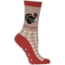 Gobble Turkey Hot Sox Slipper Non-Skid Socks Hemp New Women's Size 9-11 Fashion