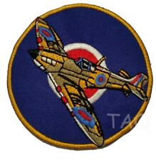 VICKERS SUPERMARINE SPITFIRE WW2 Fighter Aircraft Embroidered Iron-On Patch RAF
