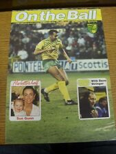 1990/1991 Norwich City: On The Ball - Issue 10 [March] - Official Club Issued Ma