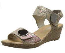 Rieker Womens UK 6.5 EU40 Beige Touch Close Wedge Heel Open Toe Sandals 62460-60