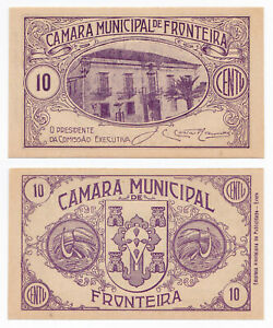 Portugal, Fronteira, 10 Centavos 1920's, aUNC/UNC, Camara Municipal de Fronteira