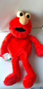 Vintage Sesame Street Elmo Pyjama Case Red Plush Soft Toy