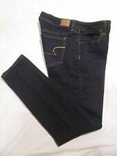 (*-*) AMERICAN EAGLE * Womens Stretch JEGGING Blue Jeans / Denim * Size 8 R