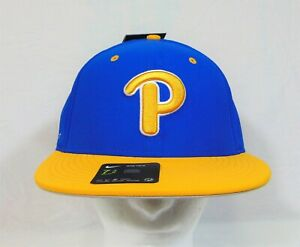 Nike True Pitt Panthers Blue/Yellow Fitted Hat/Cap 7 3/8 59CM NEW AV7481-481