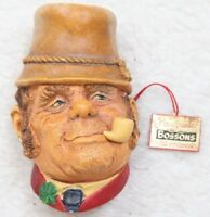 Bossons Ornament Head Decorative Vintage Figure Wall Mount Hand Painted England