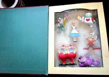 Retired Disney Alice In Wonderland 6Pc Christmas Storybook Ornament Book Box Set