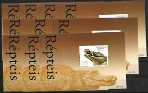 SMT, Guinea-Bissau REPTILES, block X 10, MNH and scarce