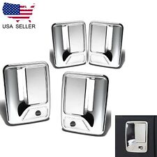 For 2008-2016 Ford F250 F350 F450 Chrome 4 Door Handle Covers WITH PSKH