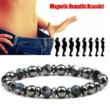 Chakra Hematite Stone Bead Stretch Bracelet Healing Magnetic Therapy Weight TDHN
