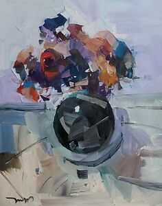 JOSE TRUJILLO Oil Painting IMPRESSIONISM MODERN COLLECTIBLE Still Life 16X20
