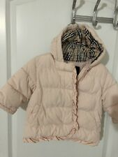 Burberry Winter Coat In Pale Pink For Baby Girl Size 12m 85b5bce134