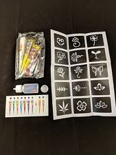 CokoHappy Temporary Tattoo Paint Kit 4 Colors New In Box