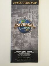 UNIVERSAL STUDIOS ISLANDS OF ADVENTURE ORLANDO FLORIDA 2 PARK GUIDE MAP 25 Years