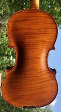 Nice Old Estate Violin Fine Flamed 1 Piece Back