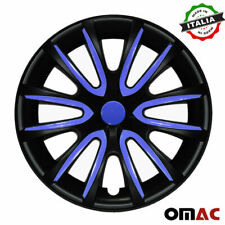 "15"" Inch Wheel Rim Cover Hubcap Matte Black Dark Blue For Jeep Wrangler 4pcs Set"