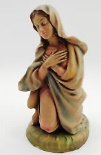 "1960s Chalk Plaster Large 9"" Tall Lovely Adoring Madonna Mary Nativity Figure"