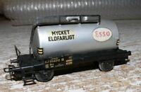 S28 Märklin  4524 .1 Kesselwagen Esso Mycket Eldfarligt schwarz SJ Blech