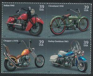 Scott 4085-88- Americano Motocicletas MNH (S / Un) Bloque De 4- 39c 2006- Nuevo