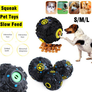 Pet Dog Giggle Ball Tough Treat Sound Activity Train Squeaky Chew Toy Safety QN