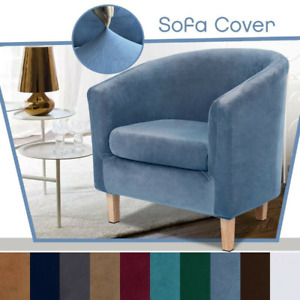 Velvet Stretch Sofa Cover Tub Chair Cover Skid Resistance Furniture Protector
