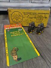 Vintage Marx Hap Hop Plastic Toy Soldiers Ramp Walkers