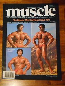 MUSCLE BUILDER bodybuilding magazine FRANCO COLUMBU/Arnold Schwarzenegger 10-77